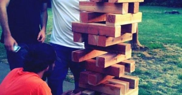 giant jenga. DIY and possibly the best lawn game ever.