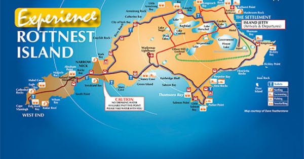 Rottnest Island Bicycle Map
