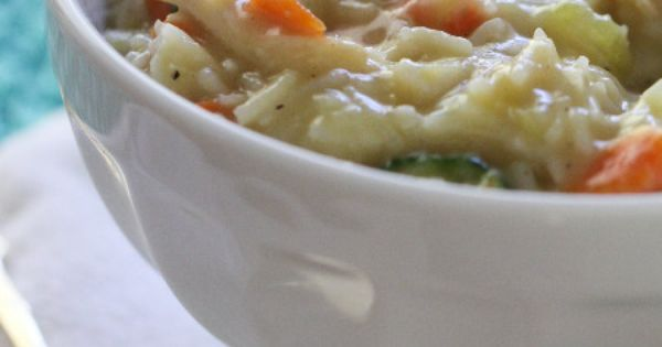 Cheesy Chicken, Bacon and Rice Soup | Rice Soup, Chicken Bacon and ...