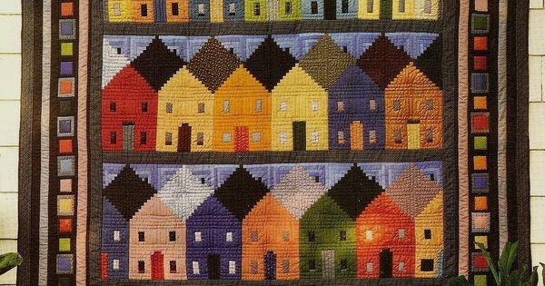 Row Houses Log Cabin Block Vintage Quilt Pattern