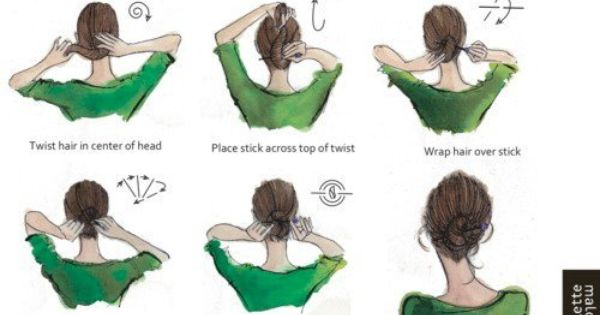 How To Put Your Hair Up With A Pencil In My Opinion