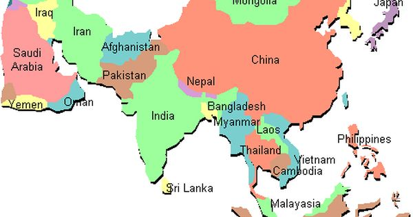 Current Time Time Zone For The Continent Of Asia Greenwich