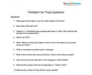 15++ Fun quiz worksheets Top