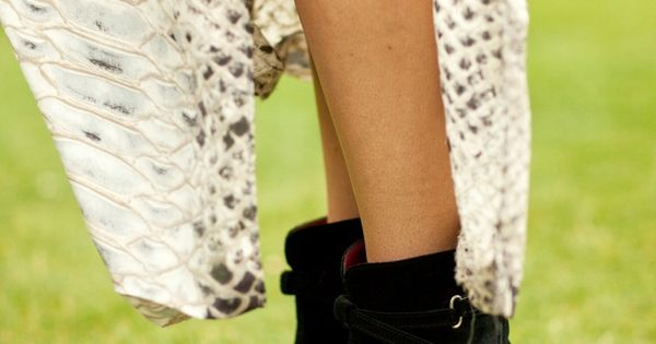 Studded Jean Michel Cazabats boots at Coachella.