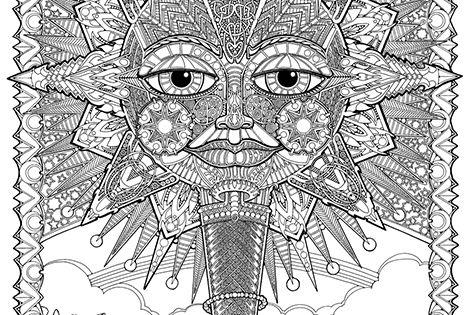 polska encyklopedia psychedelic coloring pages - photo#24