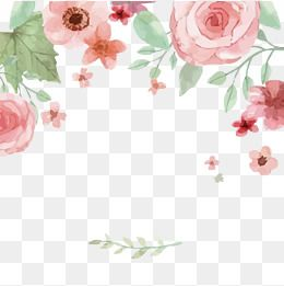 2020 的 Vector Watercolor Flowers Pink Watercolor Flowers Png
