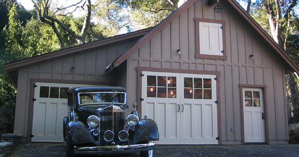 Retro garage old 1930s 40s vintage garage door plans for Vintage garage plans