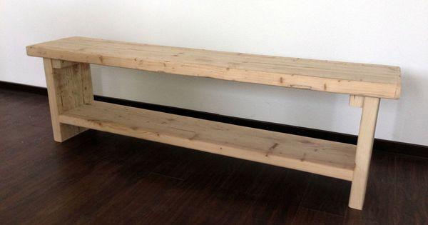bank aus bauholz recycling holz holzbohlen von m bel mit geschichte auf ideen. Black Bedroom Furniture Sets. Home Design Ideas