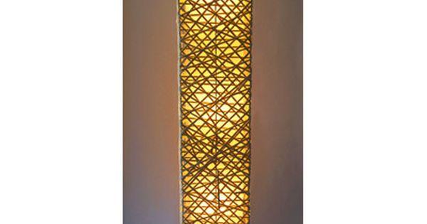 California Lighting Rectangle Bamboo Woven 52 Quot Led Column Floor Lamp Column Floor Lamp Floor Lamp Lamp