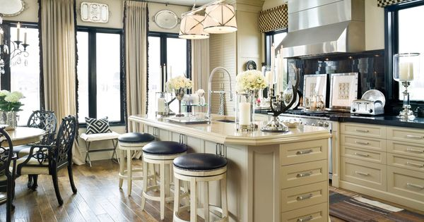 Navy and cream kitchen!