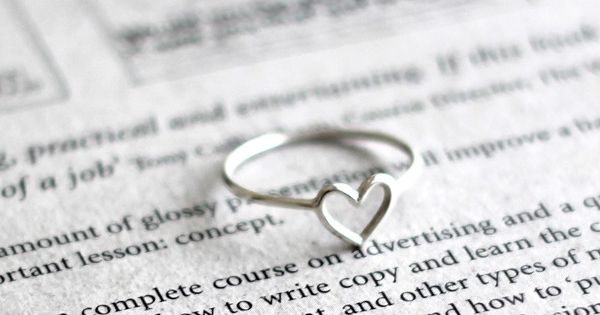 Wire heart 18k gold plated / silver ring - reasonable. Also custom
