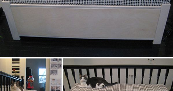 Upholstered Bench | 27 Useful DIY Solutions For Hiding The Litter Box|