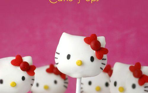 Hello Kitty Cake Pops. such a cute idea!
