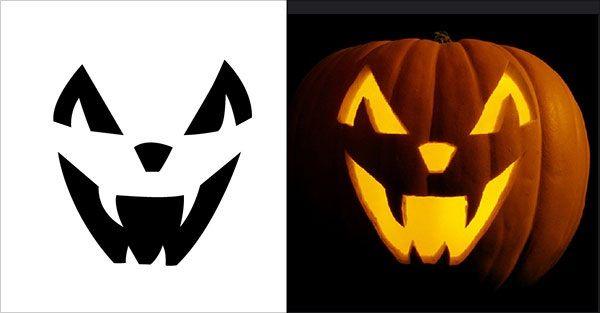 pumpkin carving template vampire  pumpkin carving patterns vampire scary in 7 | Halloween ...