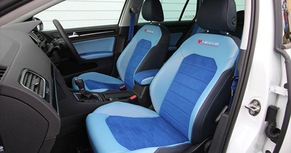 Custom Vw Golf G7 Light Sky Blue Electric Blue And Black Interior