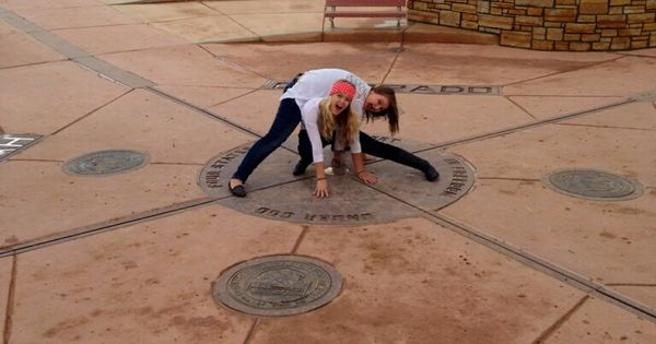 This is where I want to go on our road trip!!! Bucket List Item- Stand in all four states at the Four Corners! Corry totally wants to do this ; )