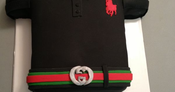 Polo Shirt Cake With Gucci Belt | My Own Cakes | Pinterest ...