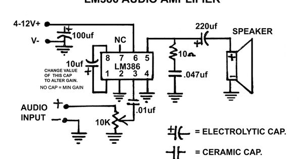 the 1  2 watt lm386 audio amplifier posted on april 30