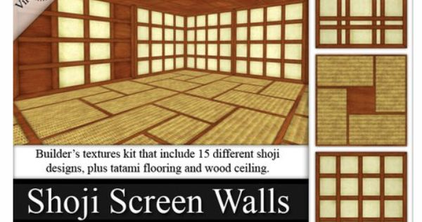 Secondlife japanese shoji screen walls textures plus for Virtual flooring app