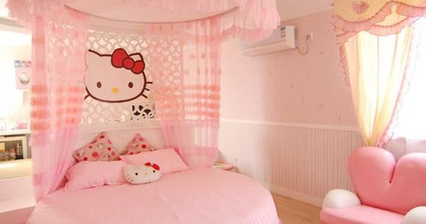 girls bedroom, hello kitty bedroom decor, top kids rooms, top girls rooms,