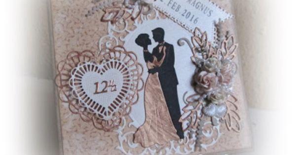 Et Kort Til Kobberbryllup Bryllup Kort Bryllupskort Jubilaeumskort