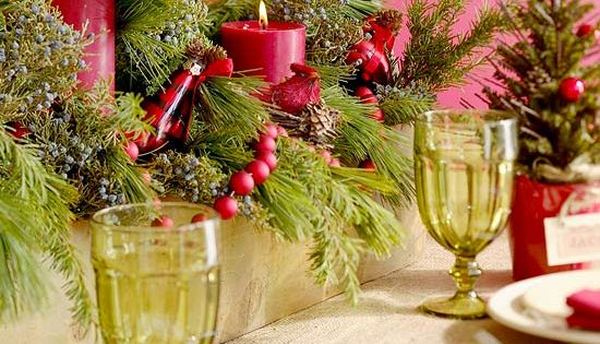 Holiday table setting.