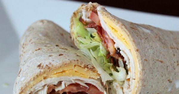 Turkey Ranch Club Wraps - easy lunches