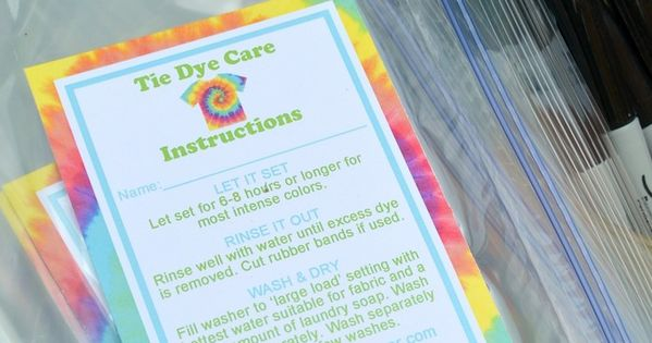 It's just a picture of Astounding Tie Dye Instructions Printable