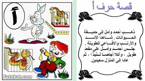 حكايات الحروف الابجديه للاطفال بالصور منتدى فتكات Arabic Alphabet For Kids Learning Arabic Learn Arabic Alphabet