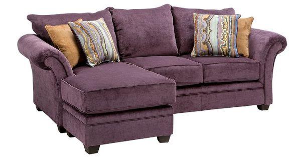 Slumberland Furniture Quimby Collection Plum Sofa Chaise Slumberland Furniture Stores And