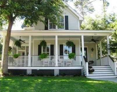 Southern Style Farm House With Wrap Around Porch Wrap
