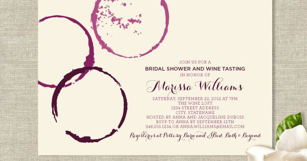 LOVE! Wine Glass Stains Theme Invitations - Modern Rustic Design. $25.00, via