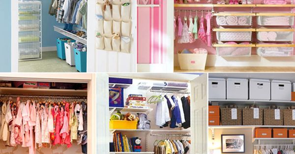 Organized closets for kids room