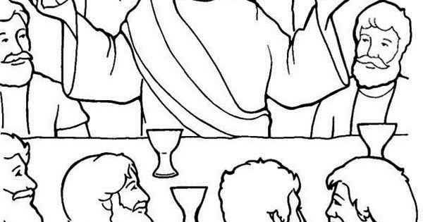 blast off into reading coloring pages | Last Supper, Jesus in the Last Supper Coloring Page: Jesus ...