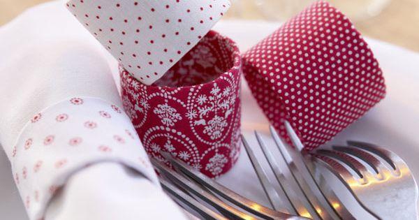 rot wei e tische der gute laune ton serviettenringe aus. Black Bedroom Furniture Sets. Home Design Ideas