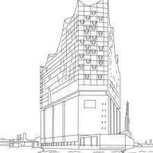 Elbphilharmonie Hamburg A Concert Hall Coloring Page Countries
