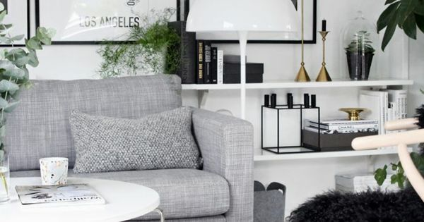 skandinavischer stil graues sofa grauer teppich wei er tisch wohnzimmer pinterest sofa. Black Bedroom Furniture Sets. Home Design Ideas