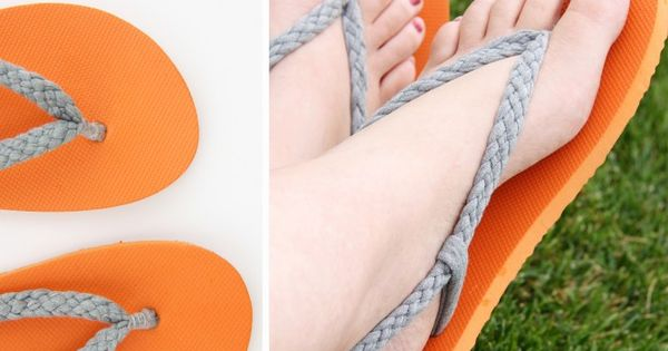 Braided flip flop refashioned