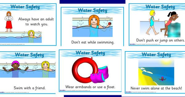 Water Safety Posters Sb2474 Sparklebox Swimming