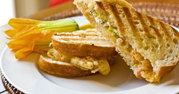 Squash Blossom Grilled Cheese from www.paninihappy.com | On My Panini ...