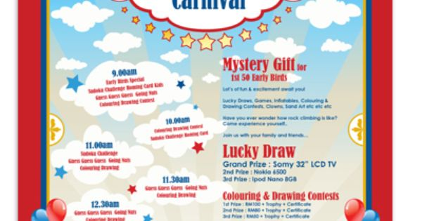 Microsoft Word Carnival Template Poster Layout Templates