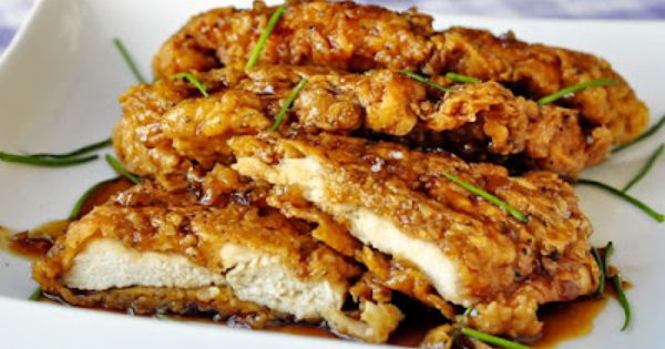 DOUBLE CRUNCH HONEY GARLIC CHICKEN BREASTS RECIPE chicken chickenbreast food recipes