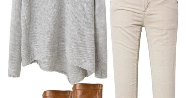#fallfashion cream skinnies, grey sweater and boots-can't forget the scarf