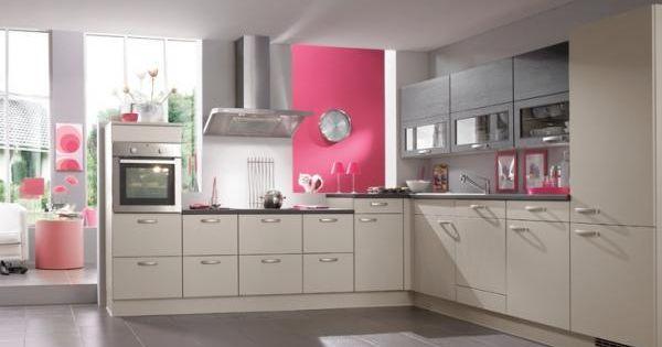 Cuisine rose et gris cuisine rose et gris un vrai coup for Cuisine gris et rose