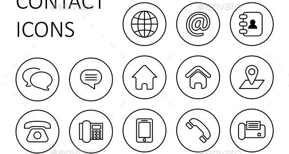 Contact Us Icons Icones Cv Picto Instagram Cartes De Visite Originales