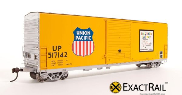 ExactRail HO scale PC and F 6033 cu. ft. Hy-Cube Box Car : UP ...
