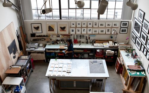 Sirima Sataman :: ink.paper.plate Press in San Francisco's Dogpatch District--- dream studio