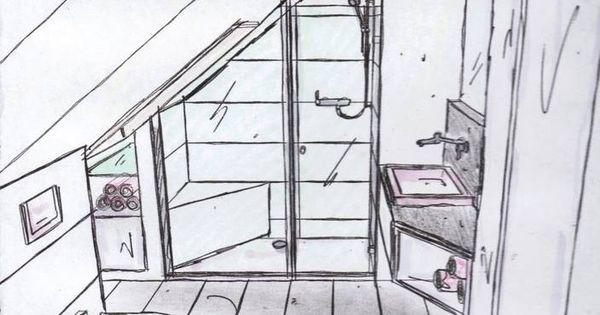 Kleine badkamer onder hellend dak badkamers pinterest lofts country style and house - Tub onder dak ...