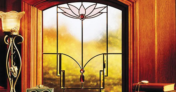 Andersen art glass lotus you can change the colors it for Andersen windows art glass