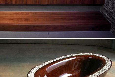 Wooden Grain Bathtubs